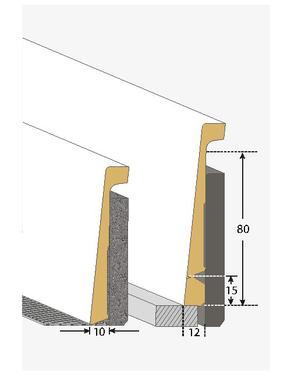 Plinthe de recouvrement 80 mm for Plinthe bois a peindre